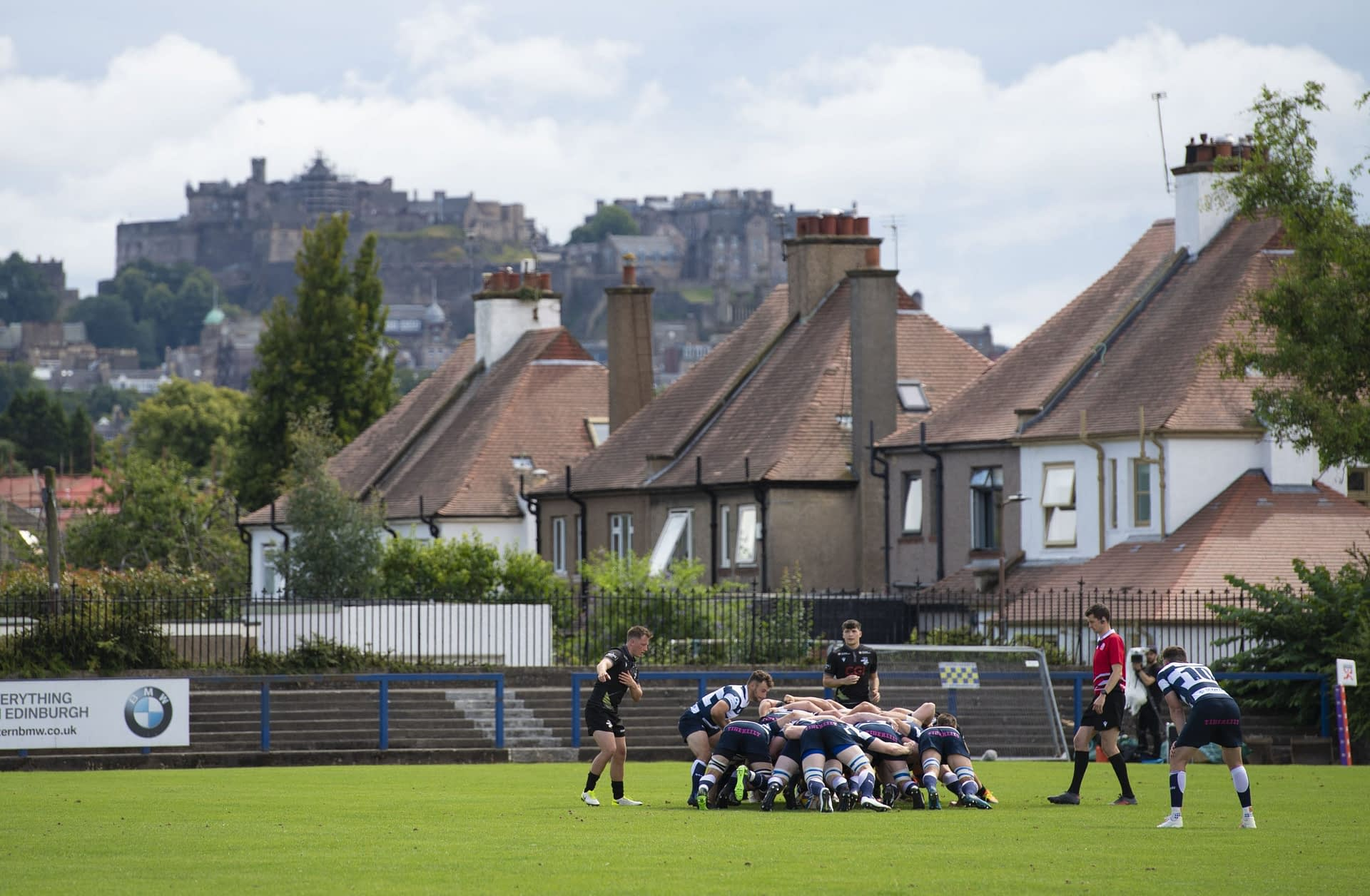 EDINBURGH, SCOTLAND - AUGUST 08: A wide view during a FOSROC Super6 match between Heriot's and Southern Knights at Heriot's Rugby Club, on August 08, 2021, in Edinburgh, Scotland. (Photo by Paul Devlin / SNS Group)