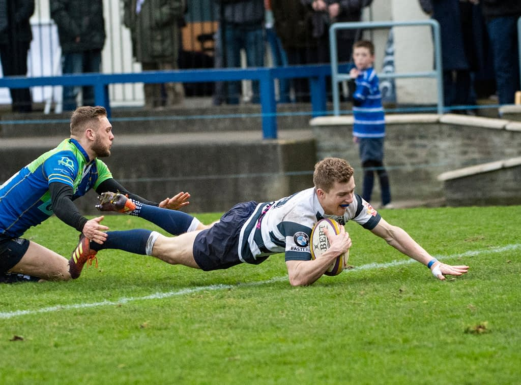 FOSROC Super 6 - Heriot's Rugby v Boroughmuir goldenacre, Edinburgh, Midlothian, UK.  17,11, 2019. Pic shows: FOSROC Super 6 - Heriot's Rugby v Boroughmuir   Credit: Ian Jacobs