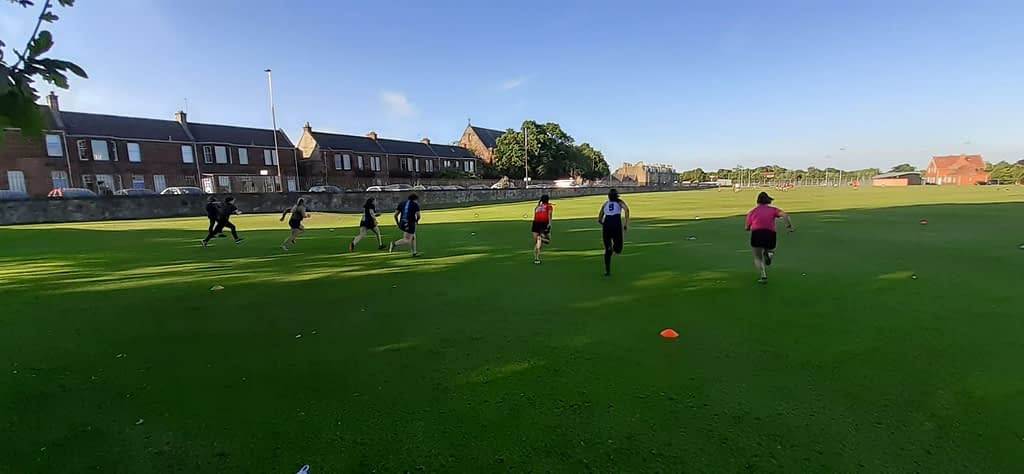 Women's rugby training at goldenacre.