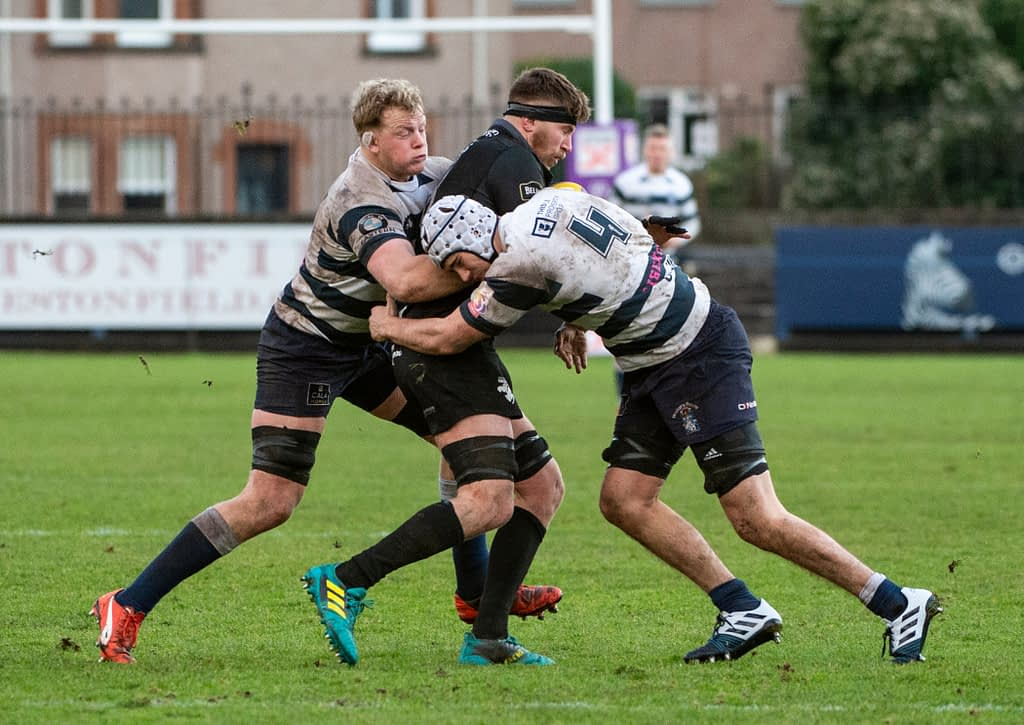 Heriot's rugby v Southern Knights Goldenacre, Edinburgh, Midlothian, UK.  17,11, 2019. Pic shows: heriot's rugby v southern knights   Credit: Ian Jacobs