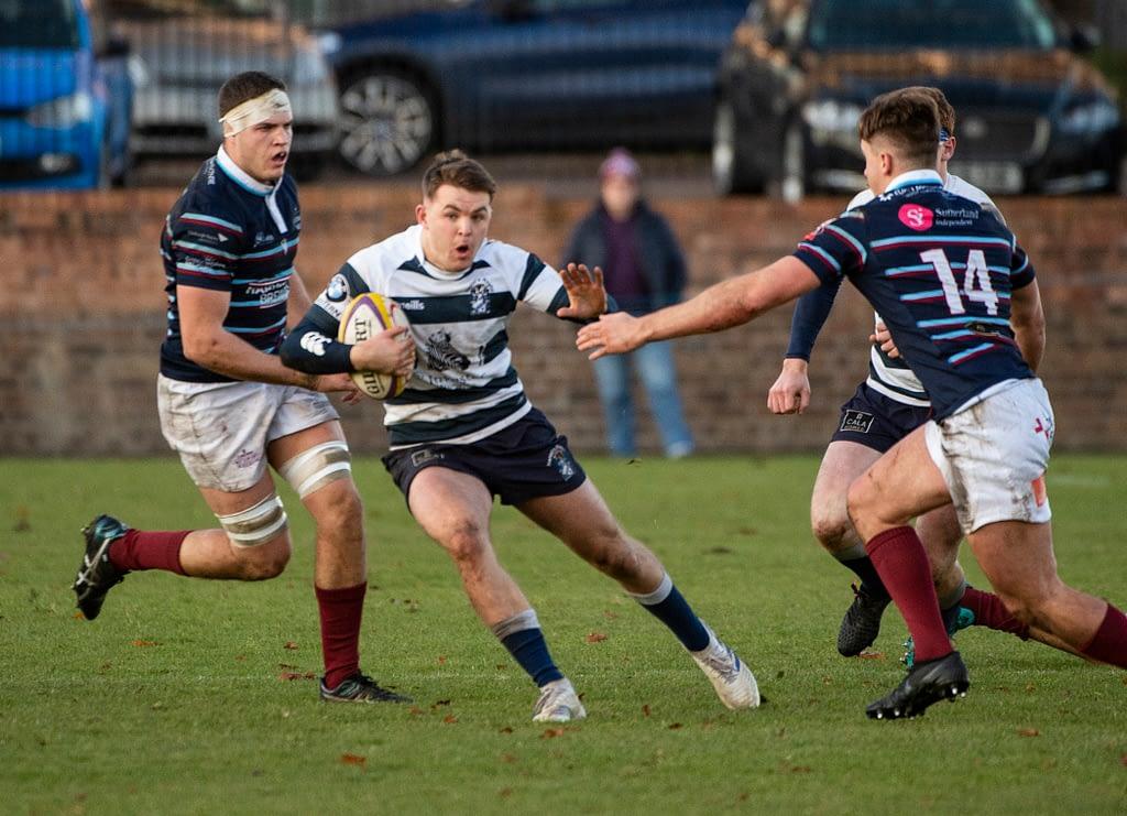 heriot's rugby v watsonians. goldenacre, Edinburgh, Midlothian, UK. 17,11, 2019. Pic shows: heriot's rugby v watsonians Credit: Ian Jacobs